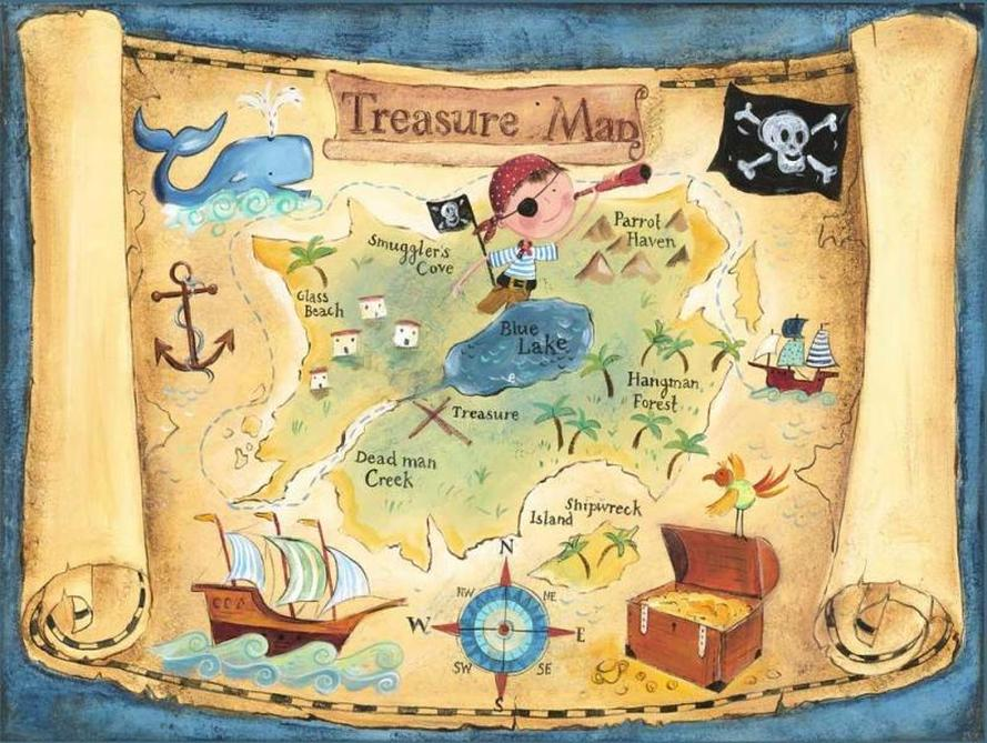 Treasure Map - X-Marks the Spot!